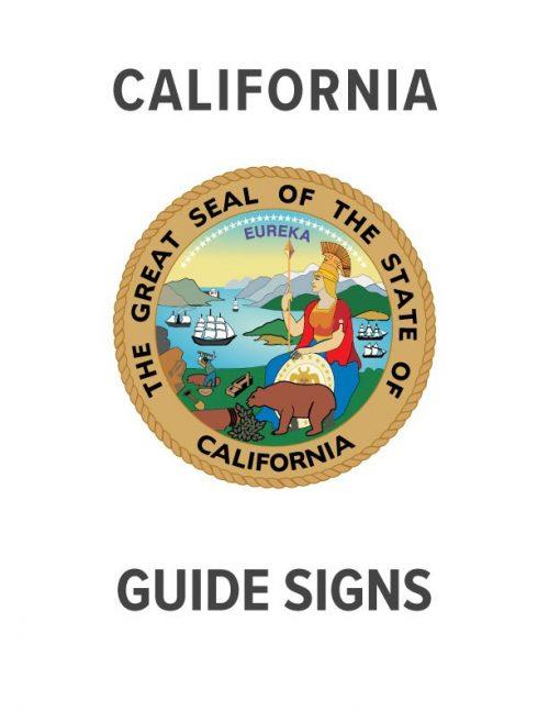 California Guide Sign Specs