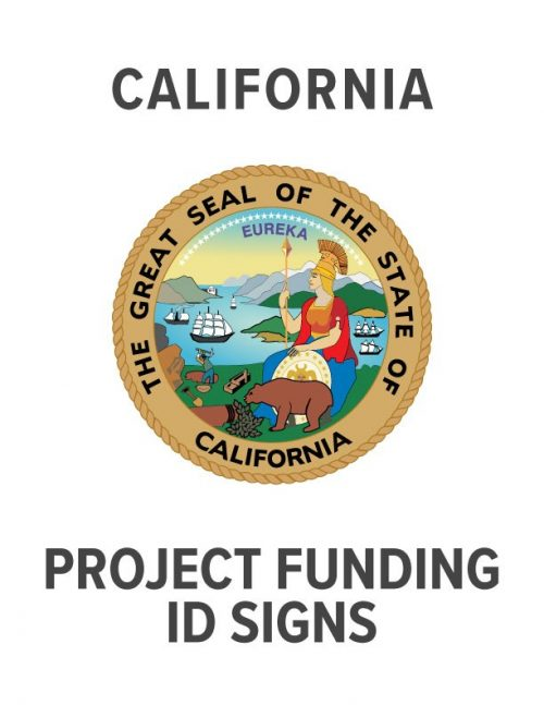 California Project Funding Signs
