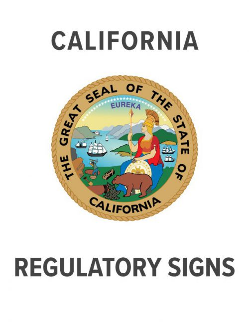 California Regulatory Sign Specs