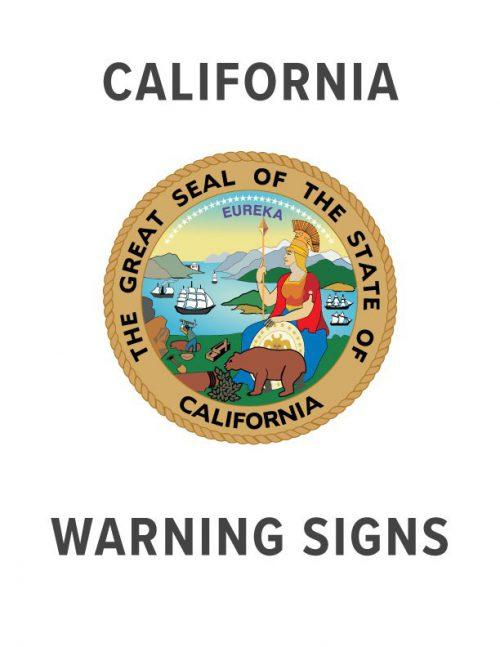 California Warning Sign Specs