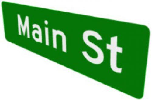 Flat Blade Street Name Signs