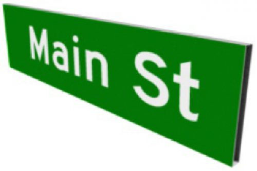 Box Street Name Signs