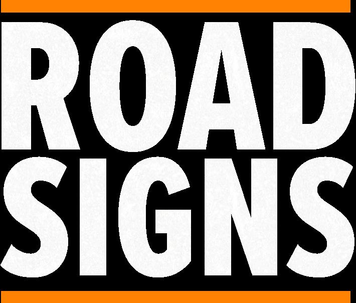 Road signs header text